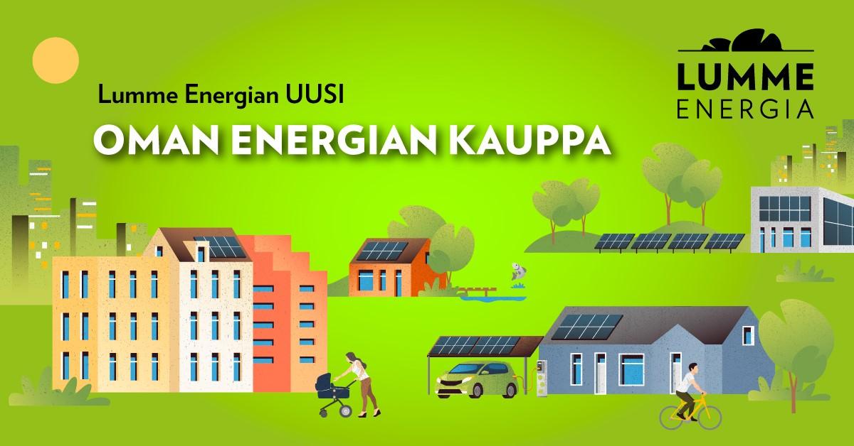 Oman energian kaupasta voit pyytää tarjouksen aurinkosähköjärjestelmästä.